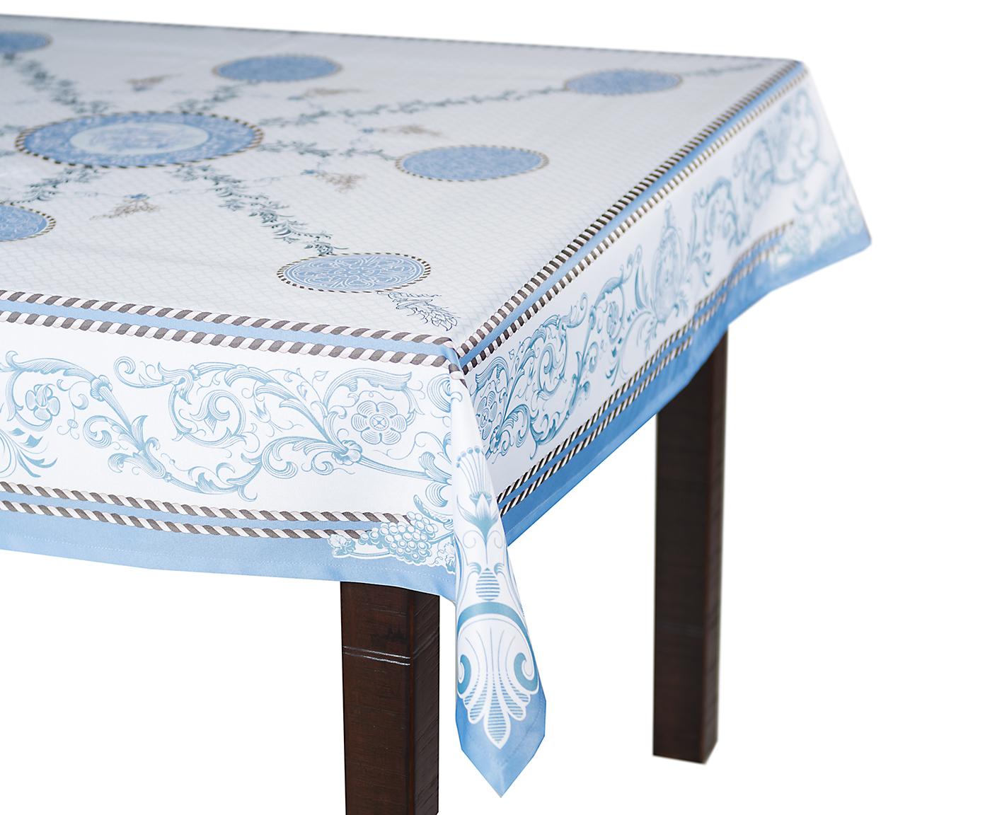 Скатерть Blonder Home LAROUX, голубой