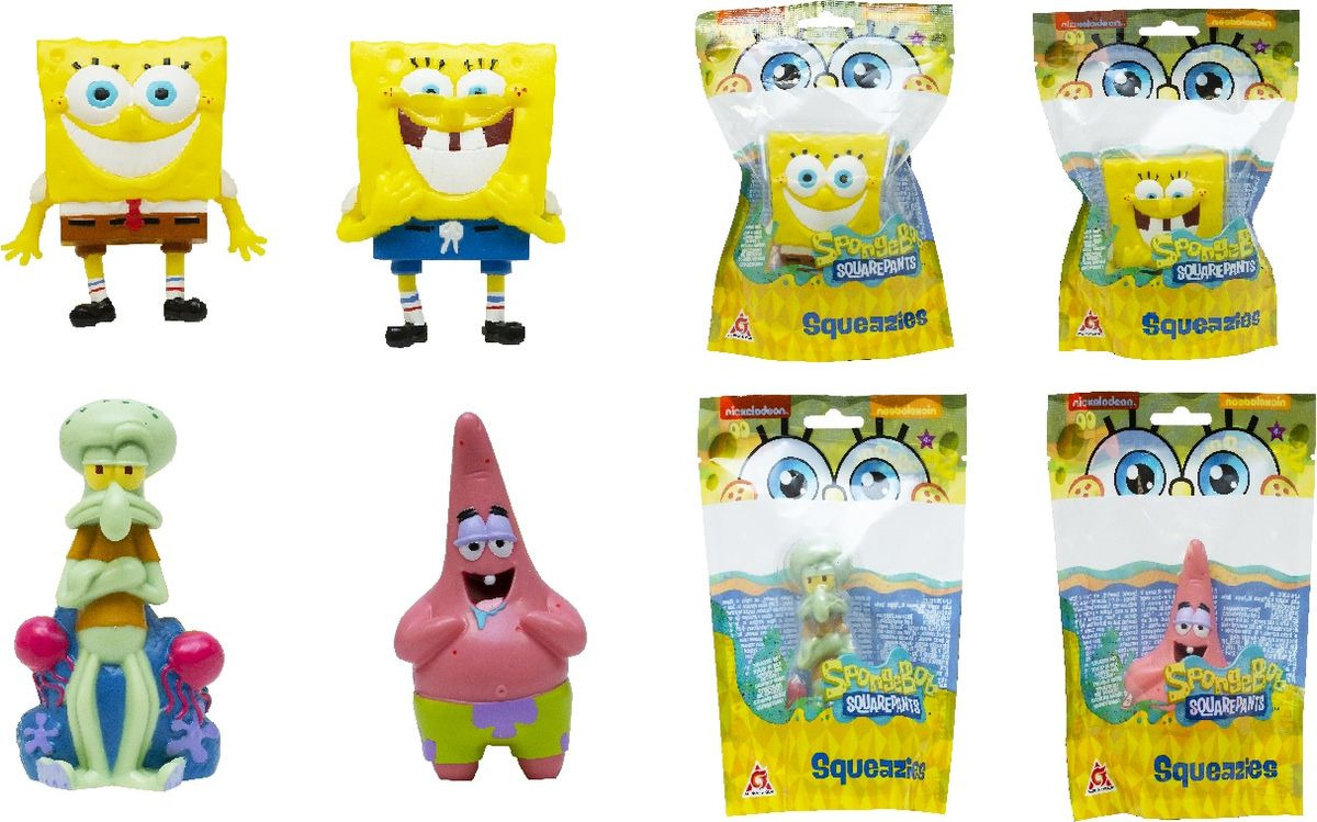 Игрушка антистресс SpongeBob, EU690300 spongebob squarepants pvc anime figures 8 figure set