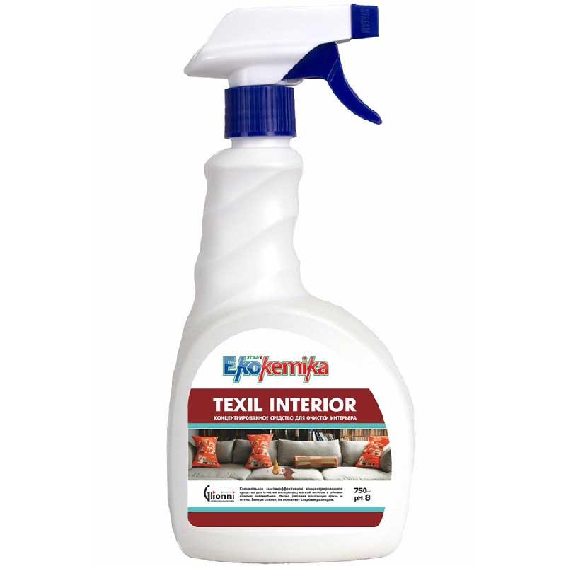 Пятновыводитель Ekokemika концентрированное средство для очистки интерьера, Texil Interior, 0.75 л