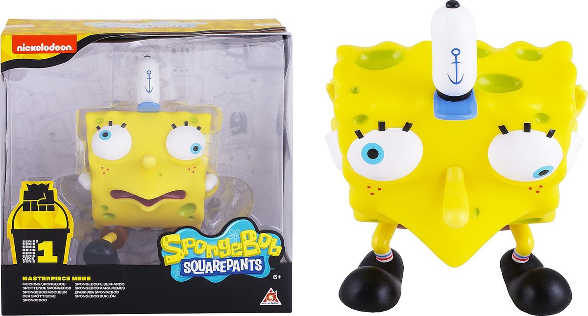 Фигурка SpongeBob Спанч Боб насмешливый, EU691005 spongebob squarepants pvc anime figures 8 figure set