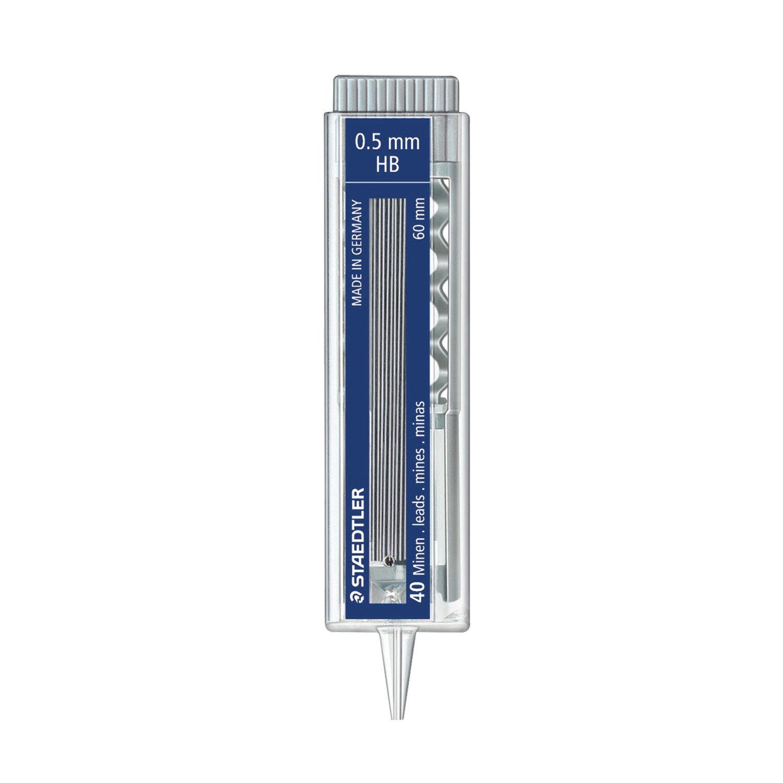 Грифель для карандаша STAEDTLER Mars micro 0,5 HB, серый staedtler грифель для карандаша mars нв 0 5 мм 12 шт