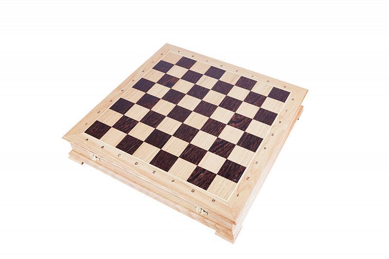 Шахматы РФН Сенеж ларец Стаунтон дуб, без фигур шахматы рфн сенеж стародворянские береза