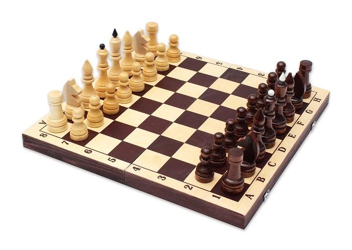 Шахматы Орловская ладья обиходные лак с темной доской шахматы орловская ладья походные орлов