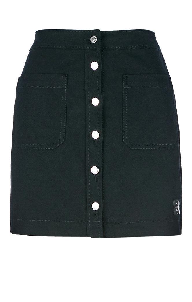 Юбка Calvin Klein Jeans, цвет: черный. J20J211858_0990. Размер 26 (38/40)J20J211858_0990