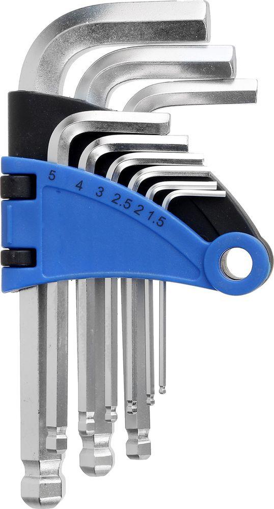Набор шестигранных ключей Tundra Comfort, с шаром, 1,5 - 10 мм, 2354393, 9 шт