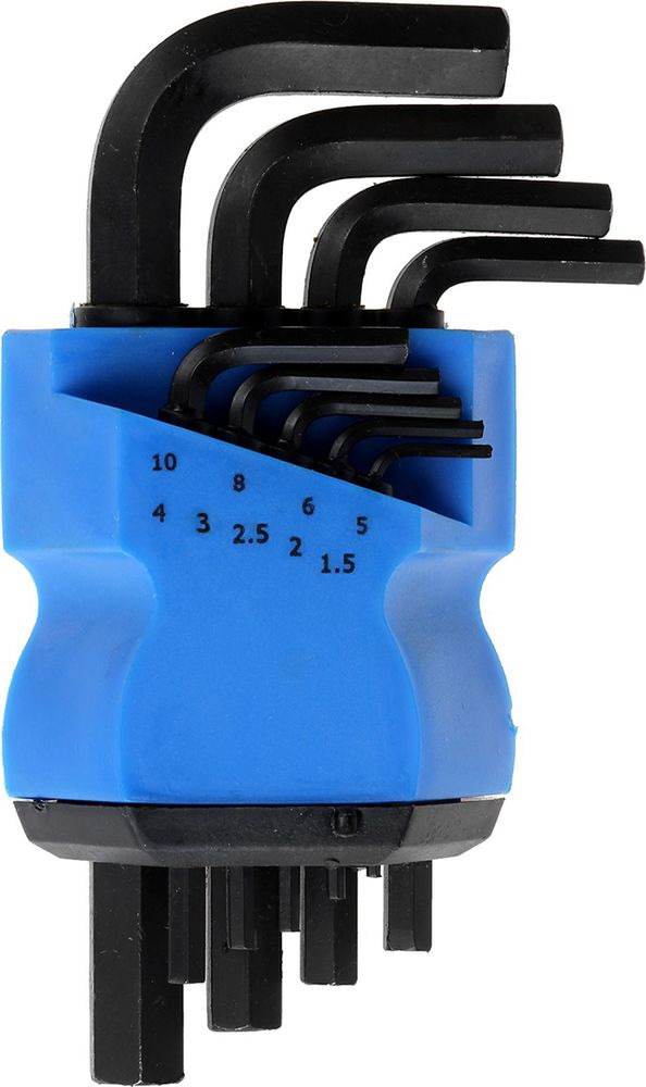 Набор шестигранных ключей Tundra Comfort Black, 1,5 - 10 мм, 2354398, 9 шт
