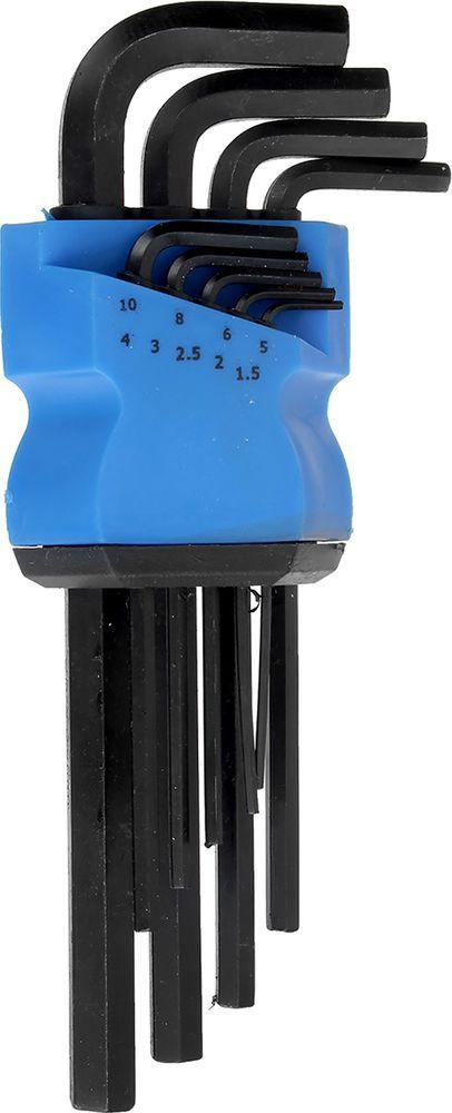 Набор шестигранных ключей Tundra Comfort Black, удлиненные, 1,5 - 10 мм, 2354399, 9 шт