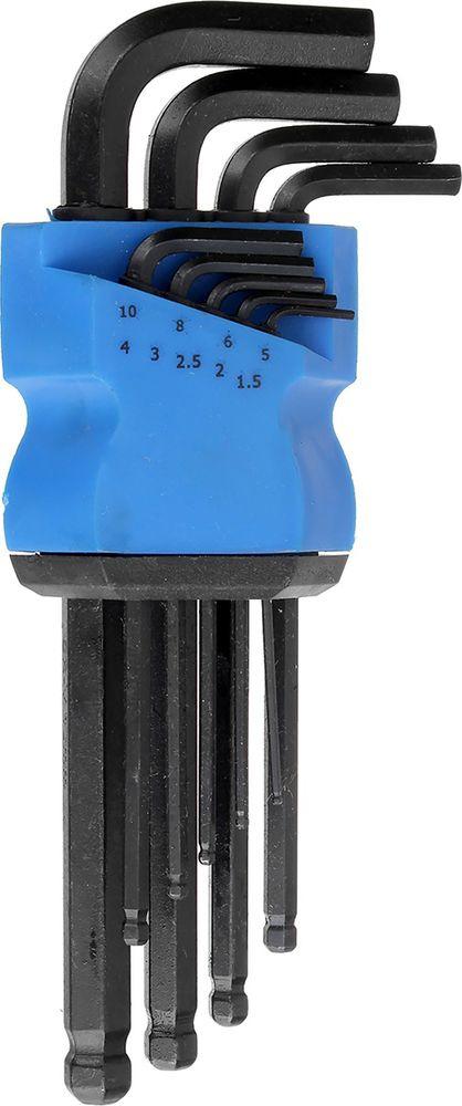 Набор шестигранных ключей Tundra Comfort Black, с шаром удлиненные, 1,5 - 10 мм, 2354401, 9 шт набор инструмента tundra comfort 881878