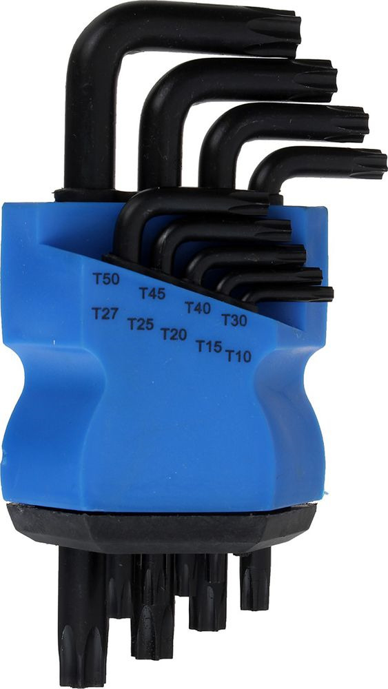 Набор ключей Tundra Comfort Black, T10 - T50, 2354402, 9 шт