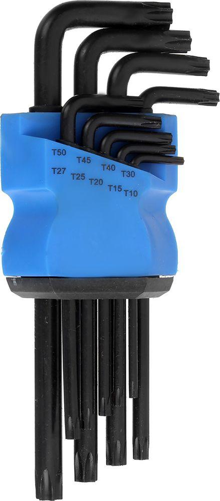 Набор ключей Tundra Comfort Black, удлиненные, T10 - T50, 2354403, 9 шт набор трубчатых ключей fit 10 шт