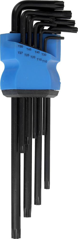 Набор ключей Tundra Comfort Black, длинные, T10 - T50, 2354404, 9 шт набор трубчатых ключей fit 10 шт