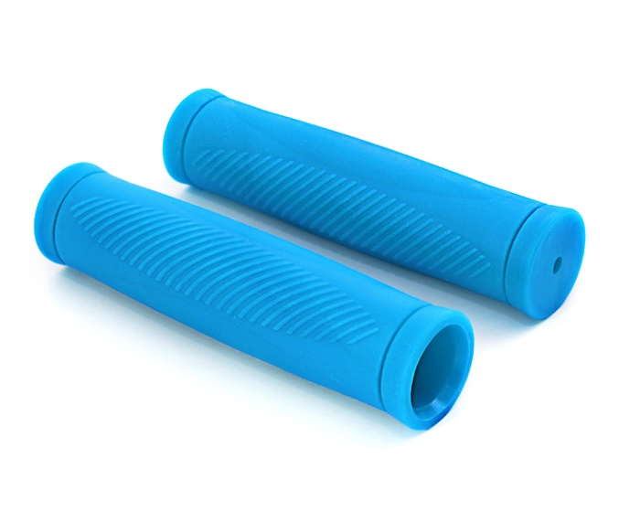 Грипсы Хорс Ручка велосипеда коробка (2 шт) голубая, голубой автокосметика хорс