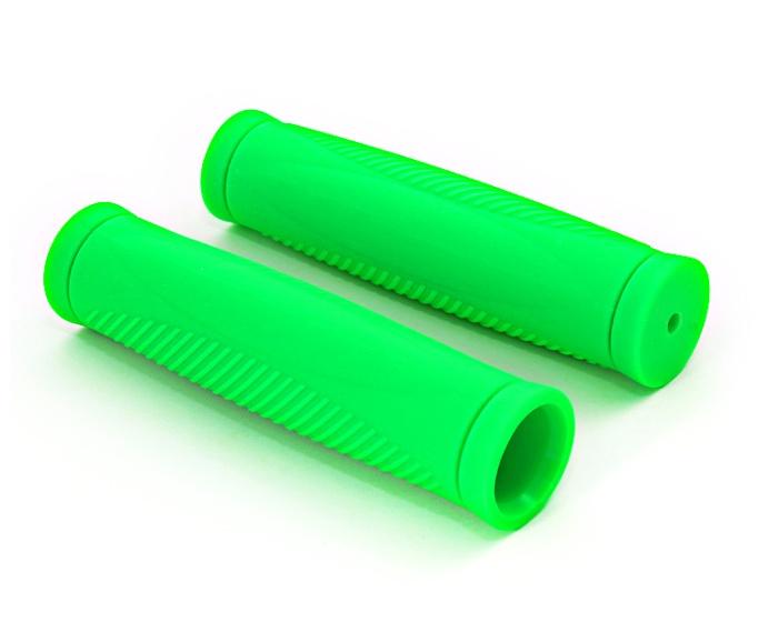 Грипсы Хорс Ручка велосипеда коробка (2 шт) зеленая фл., зеленый автокосметика хорс