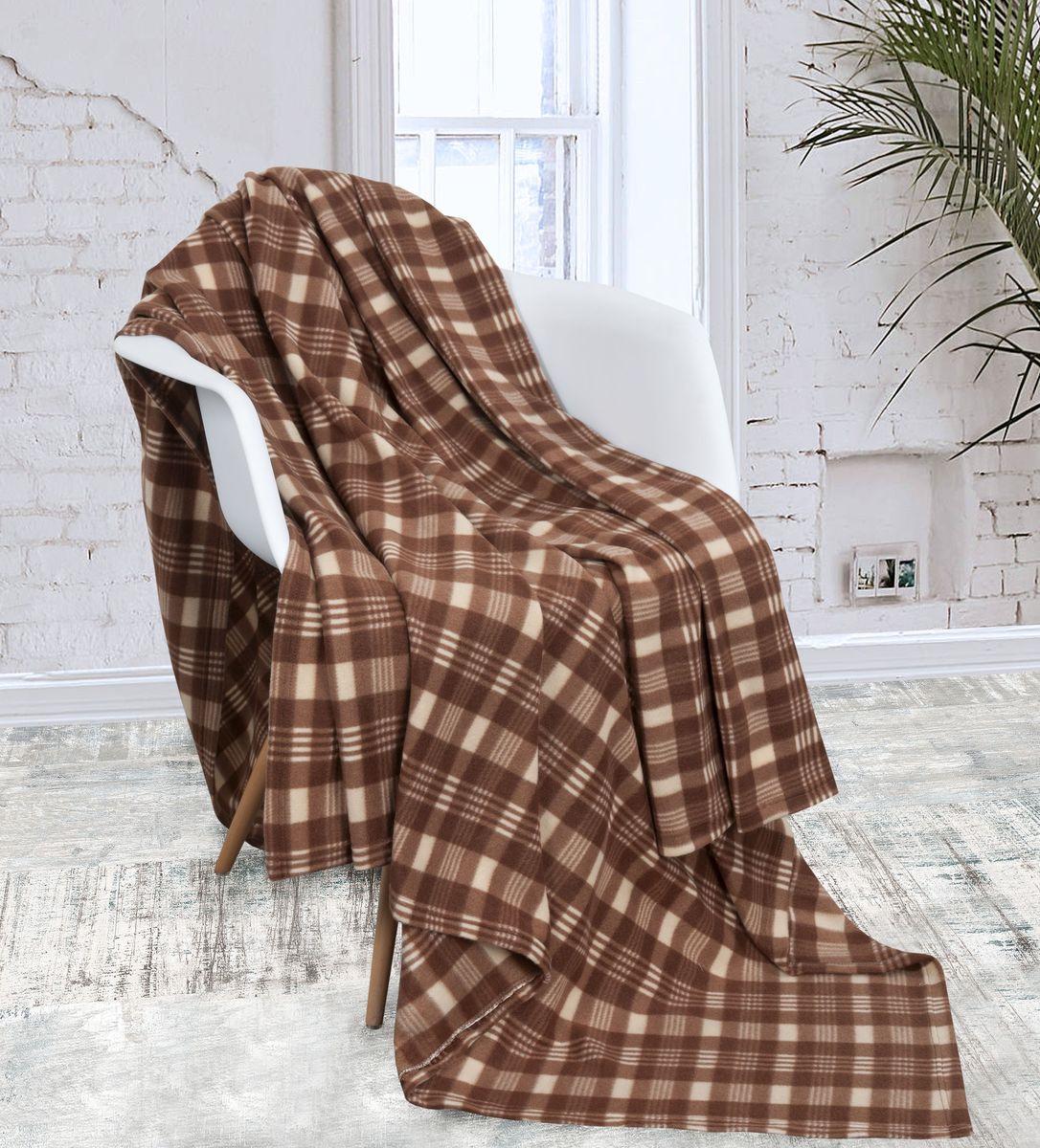 Плед-покрывало Guten Morgen Арахис, ПФарх-180-200, коричневый, 180 х 200 см