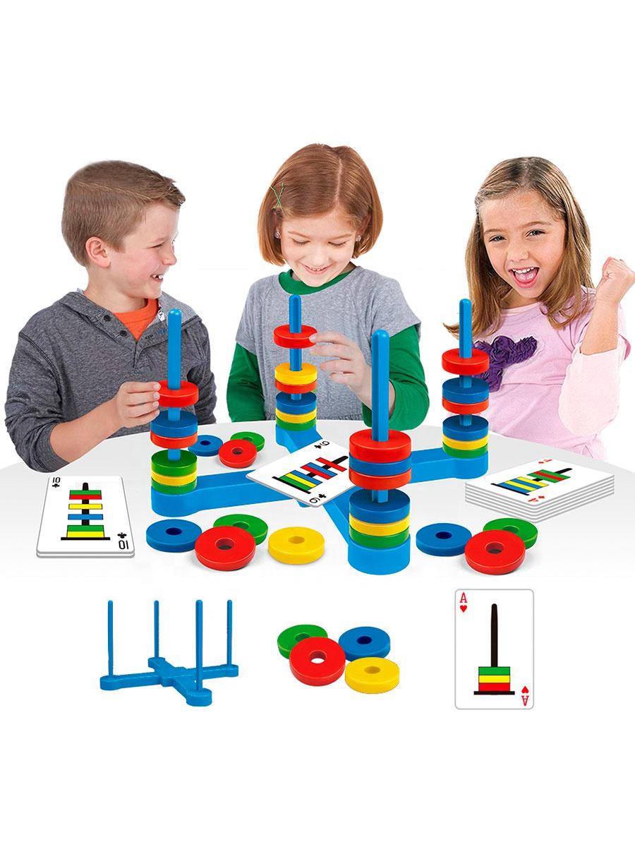 Логическая настольная детская игра Магнитные летающие кольца, 33 магнита, 54 карточки