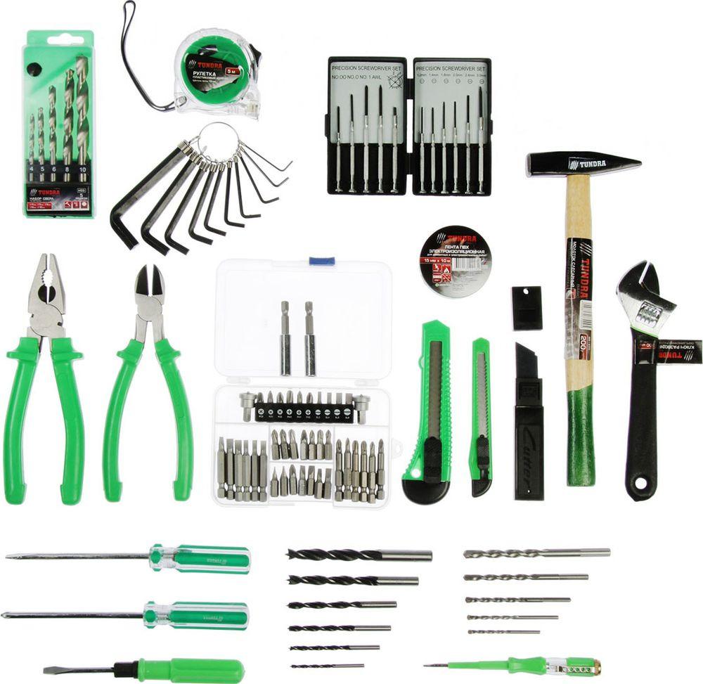 Набор автоинструментов Tundra Basic, 4246409, 100 предметов набор инструмента tundra basic 881845