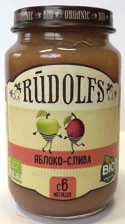 цена на Пюре для детей Rudolfs Яблоко-Слива, 190 г