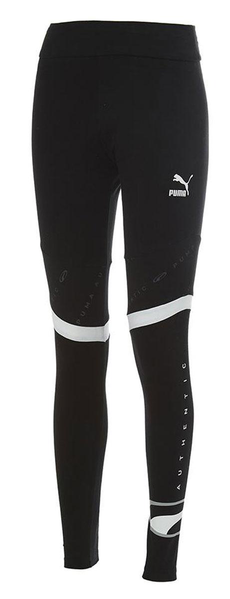 Леггинсы PUMA 90s Retro Leggings Wmns stitching mesh leggings