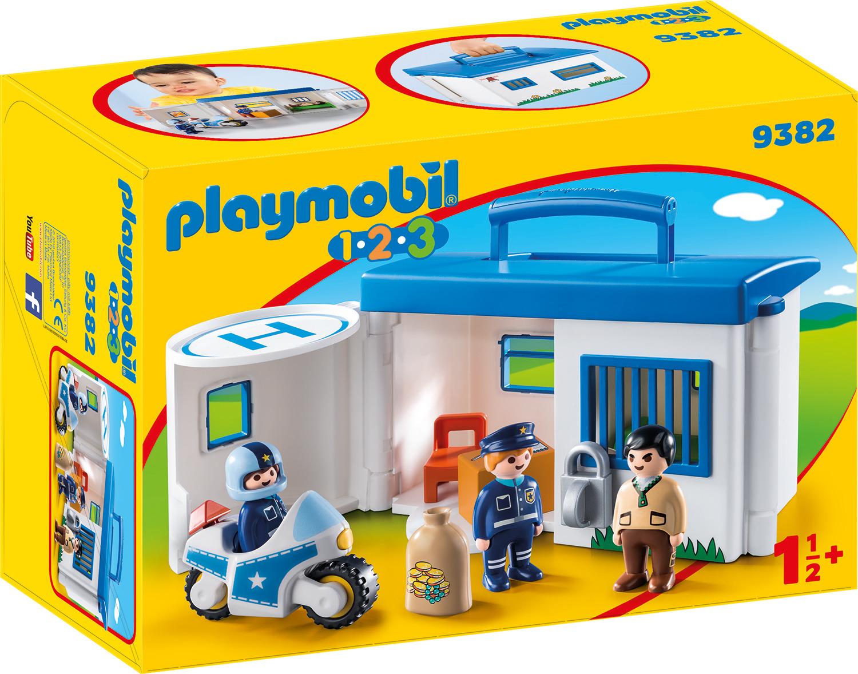Пластиковый конструктор Playmobil 1.2.3 Возьми с собой Полицейский Участок, 9382pm стоимость