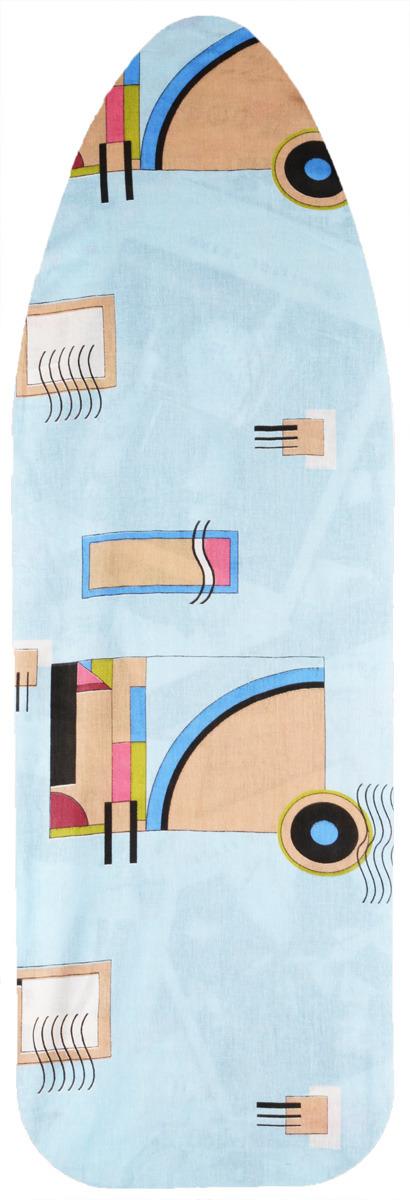 Чехол для гладильной доски Eva, цвет: голубой, бежевый,, бордо, зеленый 129 х 45 см чехол для гладильной доски eva с поролоном цвет бежевый синий бордовый 119 х 37 см
