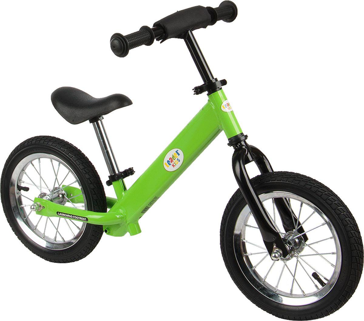 Беговел Leader Kids 336, зеленый автокресло leader kids вояж до 13 кг цвет черный зеленый