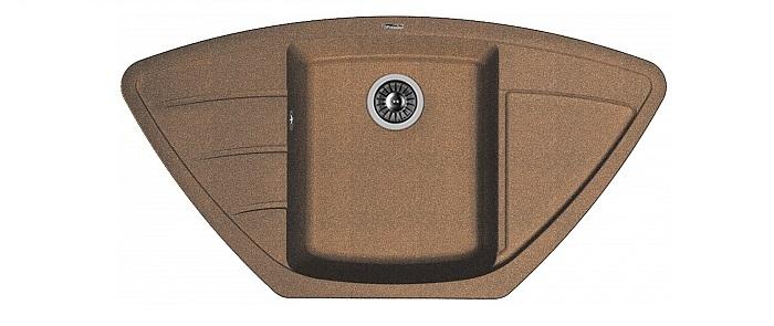 Мойка Florentina Липси-980C, коричневый20.180.D0980.105Угловая мойка с четкими контурами;Гармоничный дизайн;Дополнительные отверстия под аксессуары.