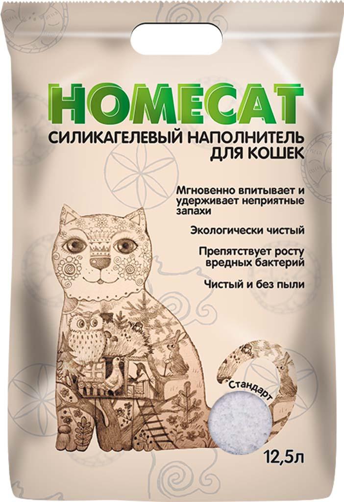 Наполнитель для кошачьего туалета Homecat Стандарт, силикагелевый, без запаха, 68912, 12,5 л
