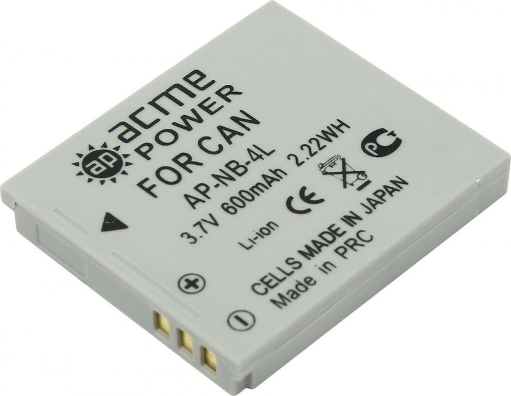 Фото - Аккумулятор для компактных камер AcmePower для Canon IXUS 115HS/130/220HS/230HS/30/40/50/55/60/65/70/75/80IS/100IS/110IS, AP-NB-4L аккумулятор для компактных камер и видеокамер acmepower ap ahdbt 302