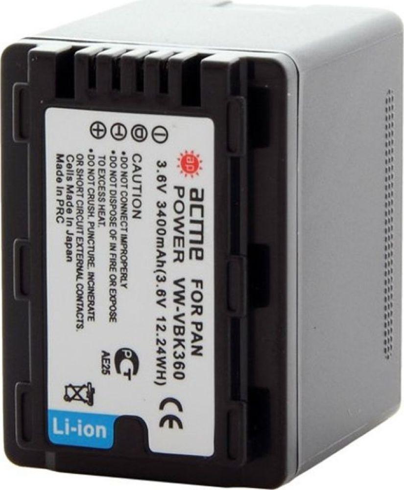 Аккумулятор для видеокамер AcmePower для Panasonic HC-V10/V100/V100M HDC-HS60/HS80/SD40/SD60/SD80/SD90, AP-VBK-360 цена