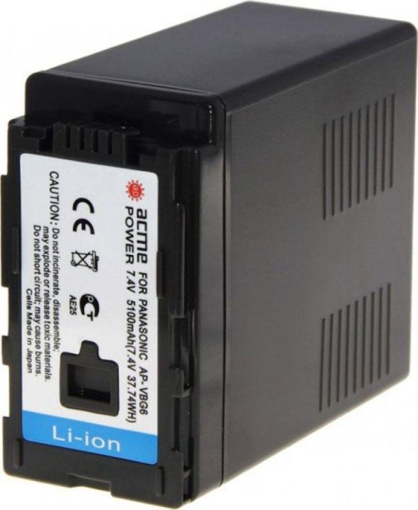 Фото - Аккумулятор для видеокамер AcmePower для Panasonic HDC-HS700K/SDT750/TM10/TM700K, AP-VBG-6 аккумулятор для компактных камер и видеокамер acmepower ap du14