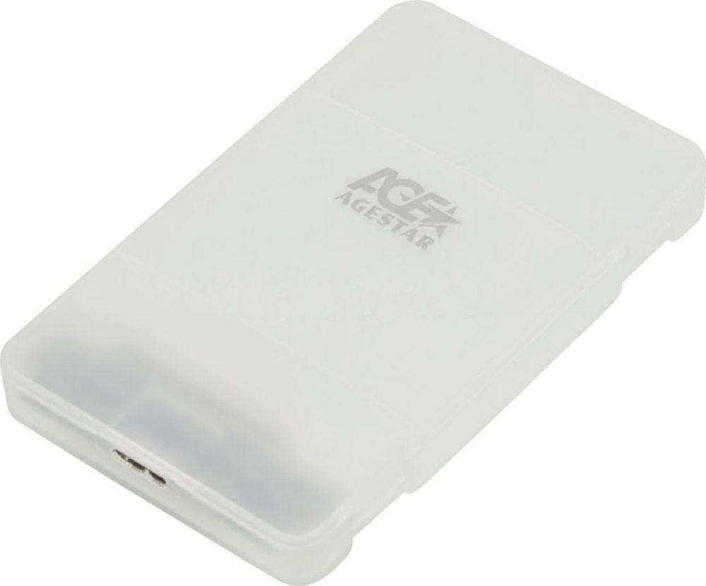 Внешний корпус для HDD/SSD AgeStar 31UBCP3, белый внешний корпус для hdd ssd agestar 3ubms1 серебристый