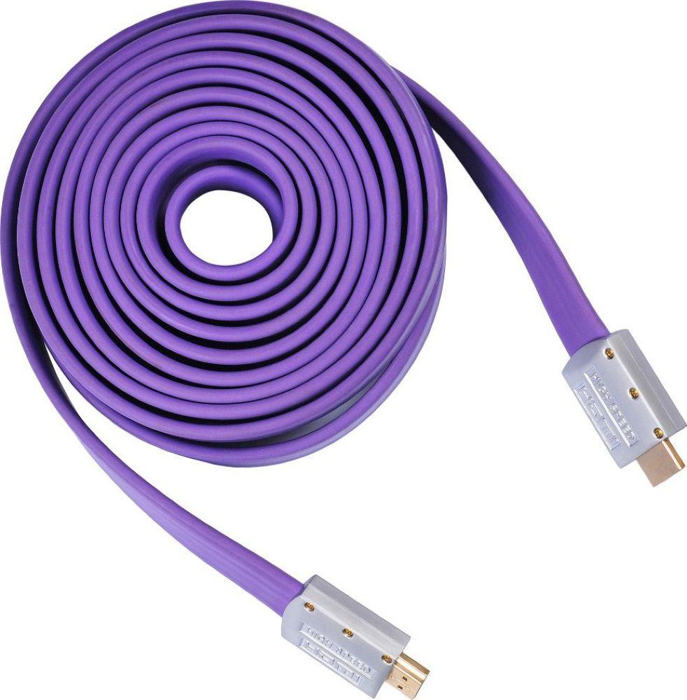 Кабель аудио-видео Buro HDMI, 5 м, HDMI 19M-19M V1.4 FL кабель аудио видео buro hdmi 5 м bhp hdmi v1 4 5m lock