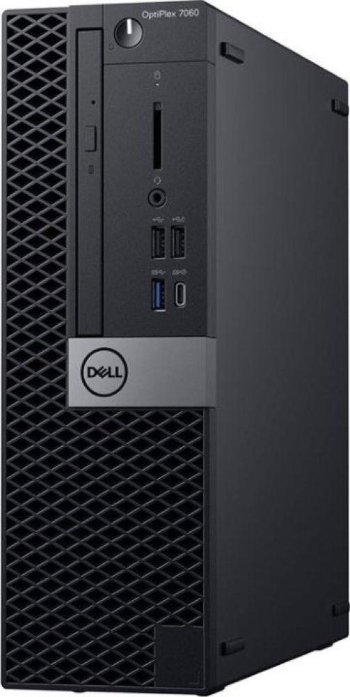 Системный блок Dell Optiplex 7060 SFF, 7060-6160, черный, серебристый системный блок dell optiplex 7060 sff 7060 7717 черный серебристый
