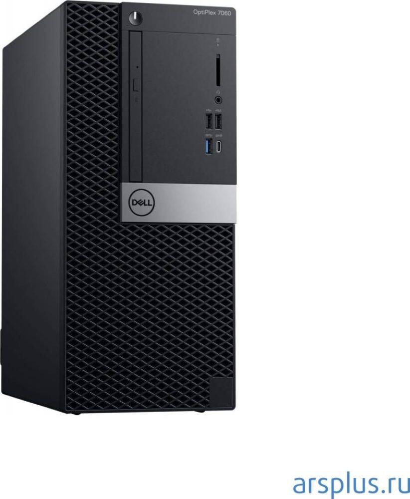 Системный блок Dell Optiplex 7060 МТ, 7060-7624, черный, серебристый системный блок dell optiplex 7060 sff 7060 7717 черный серебристый