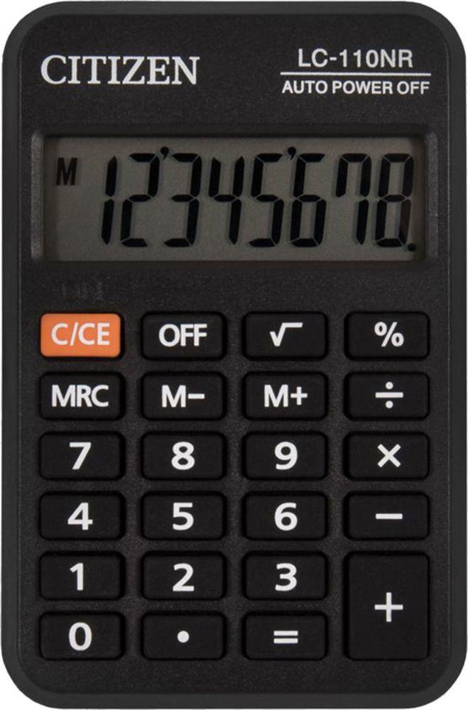 Калькулятор карманный Citizen LC-110NR, черный все цены