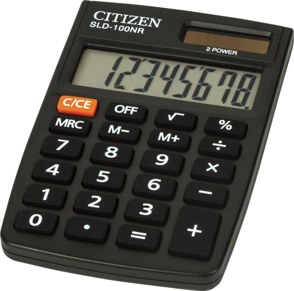 купить Калькулятор карманный Citizen SLD-100NR, черный по цене 225 рублей