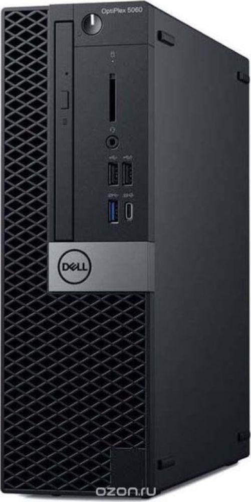Системный блок Dell Optiplex 7060 МТ, 7060-6108, черный, серебристый системный блок dell optiplex 7060 sff 7060 7717 черный серебристый
