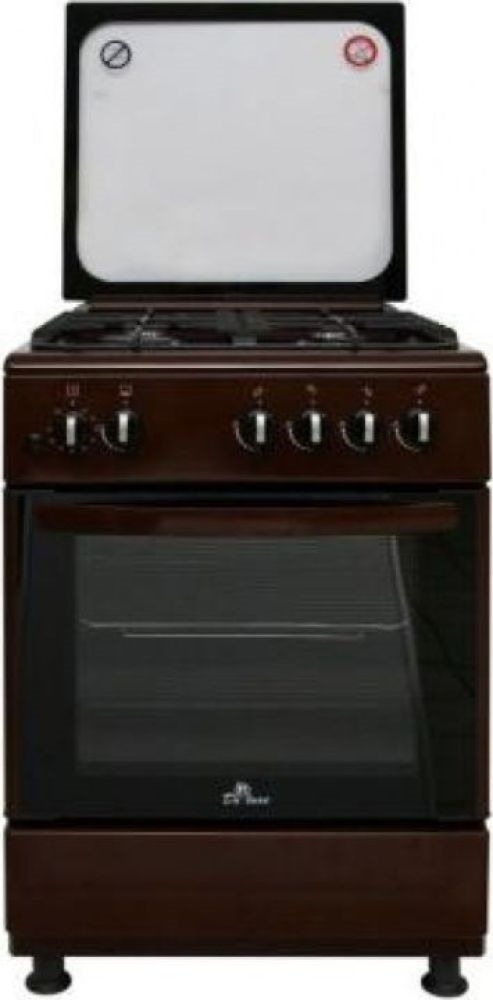 Плита Газовая De Luxe 606040.24-002г (кр) ЧР коричневый