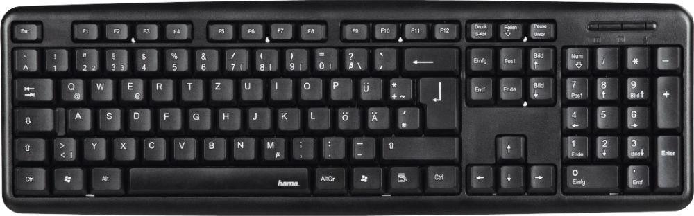 Фото - Клавиатура Hama Verano, R1053930, черный клавиатура проводная hama verano usb белый r1053931