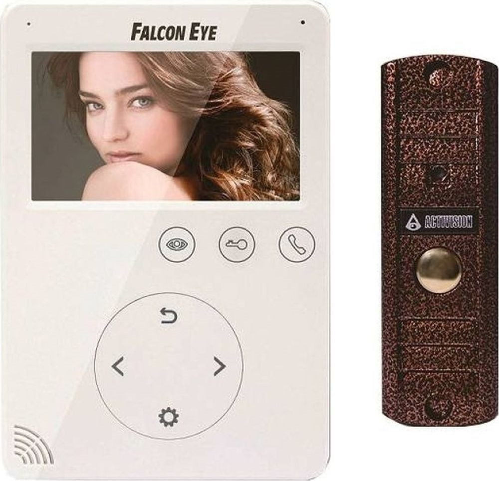 Видеодомофон Falcon Eye FE-VELA + AVP-508 PAL, белый