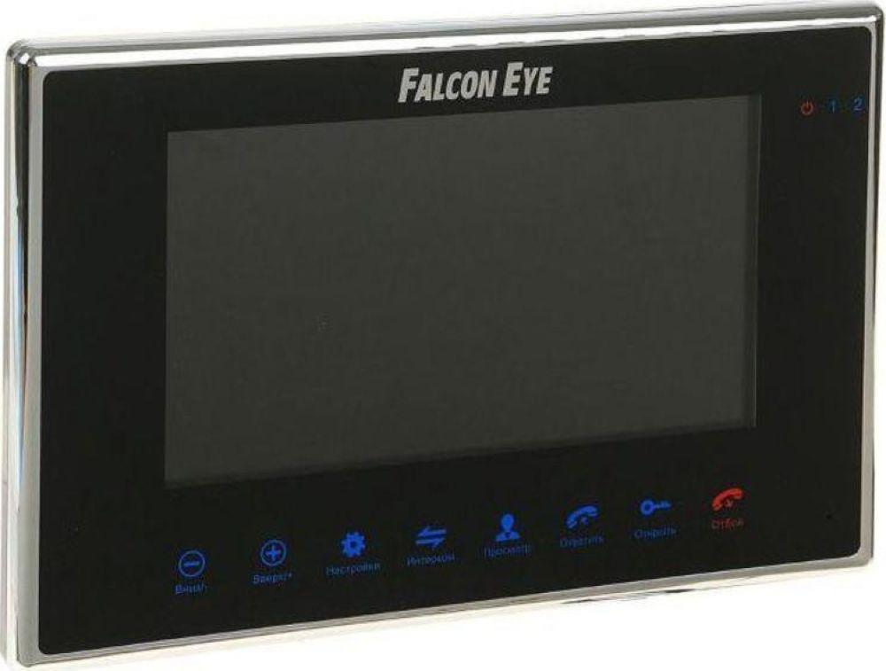 Видеодомофон Falcon Eye FE-70M, черный видеодомофон falcon eye fe 70 aries white дисплей 7 tft сенсорный экран подключение до 2 х вызывных панелей и до 2 х видеокамер интерком графи