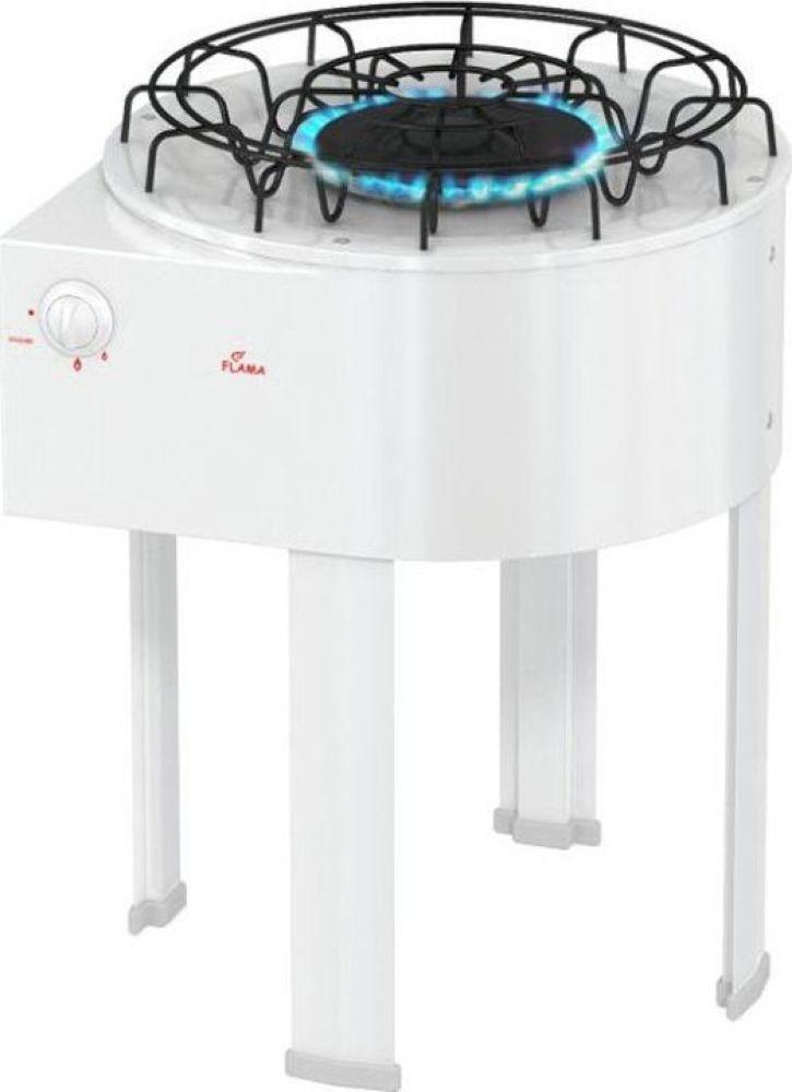 Плита Газовая Flama DVG 4101 W белый эмаль (настольная)