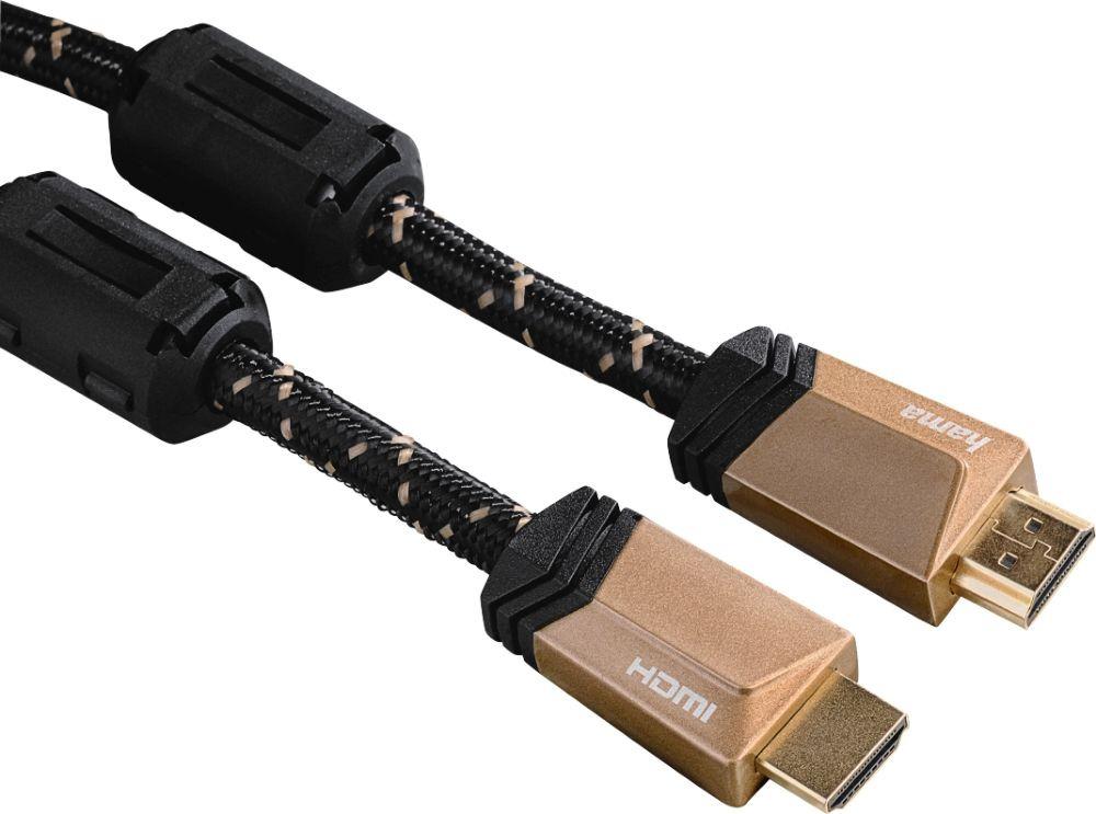 лучшая цена Кабель аудио-видео Hama Premium HDMI (m)/HDMI (m), 1,5 м, 00122210, черный