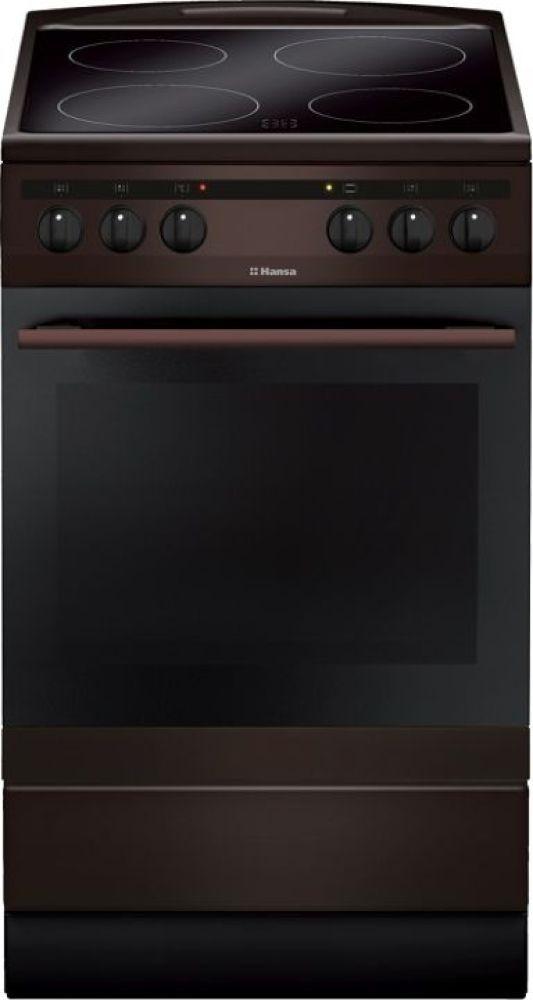 Плита Электрическая Hansa FCCB58088 коричневый
