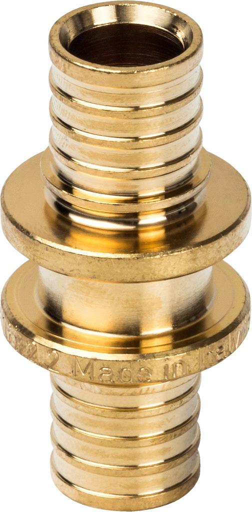 Муфта соединительная Stout,равнопроходная, для труб из сшитого полиэтилена аксиальный, SFA-0003-000020, желтый, диаметр 20 мм адаптер stout диаметр 60 100 для котла вертикальный коаксиальный sca 6010 230100