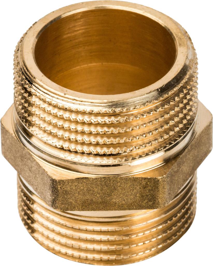 Ниппель НН Stout, 11/2, SFT-0003-112112, золотой набор фитингов для подключения насоса 1