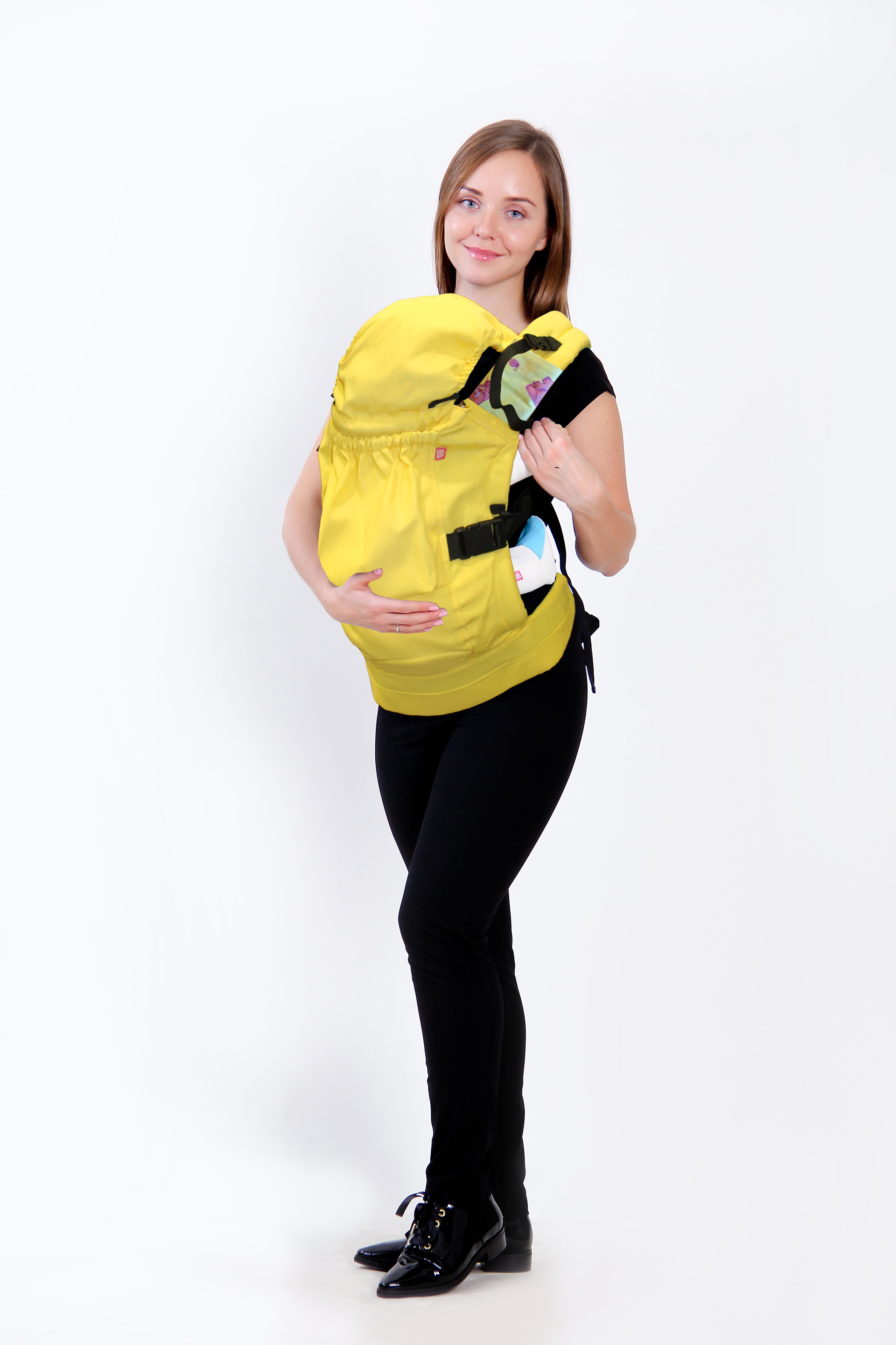 рюкзак переноска риббис bibi лён сиреневый Рюкзак-переноска Риббис Bibi Комфорт желтый