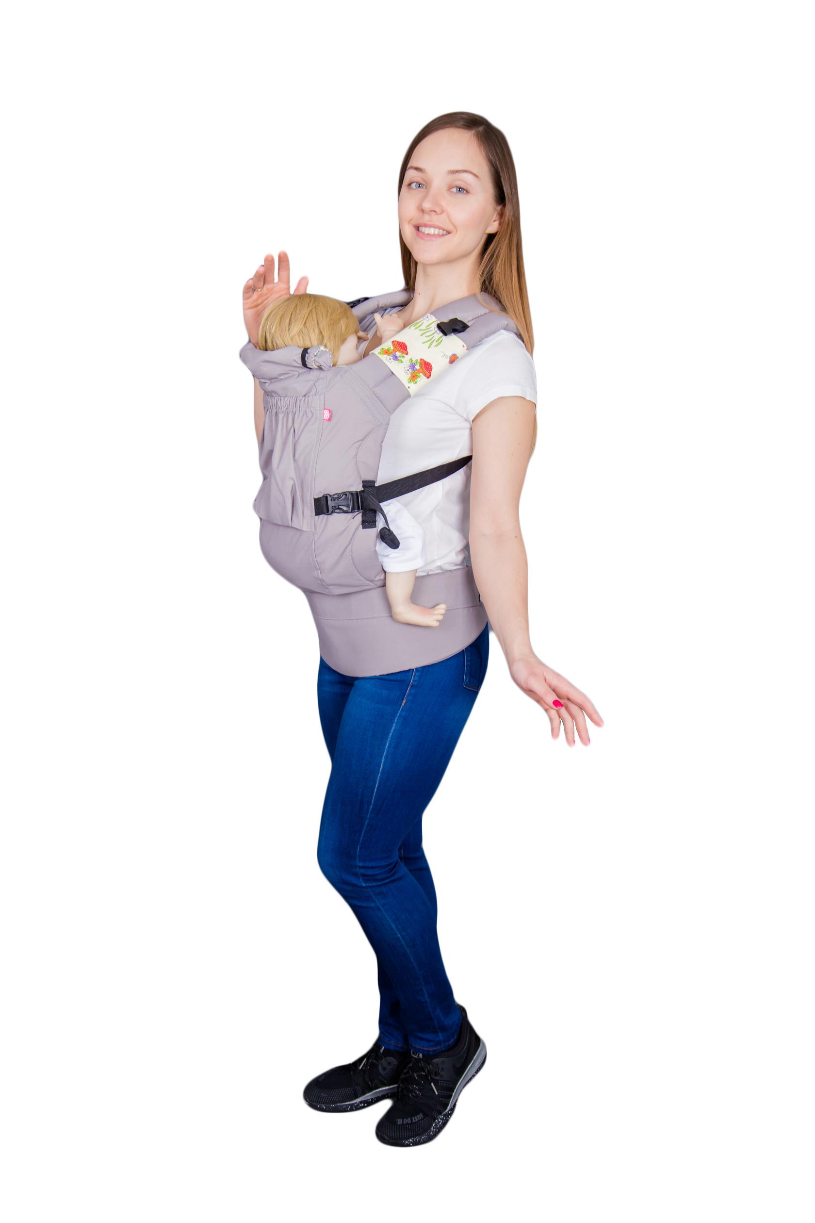 рюкзак переноска риббис bibi лён сиреневый Рюкзак-переноска Риббис Bibi Классик светло-серый