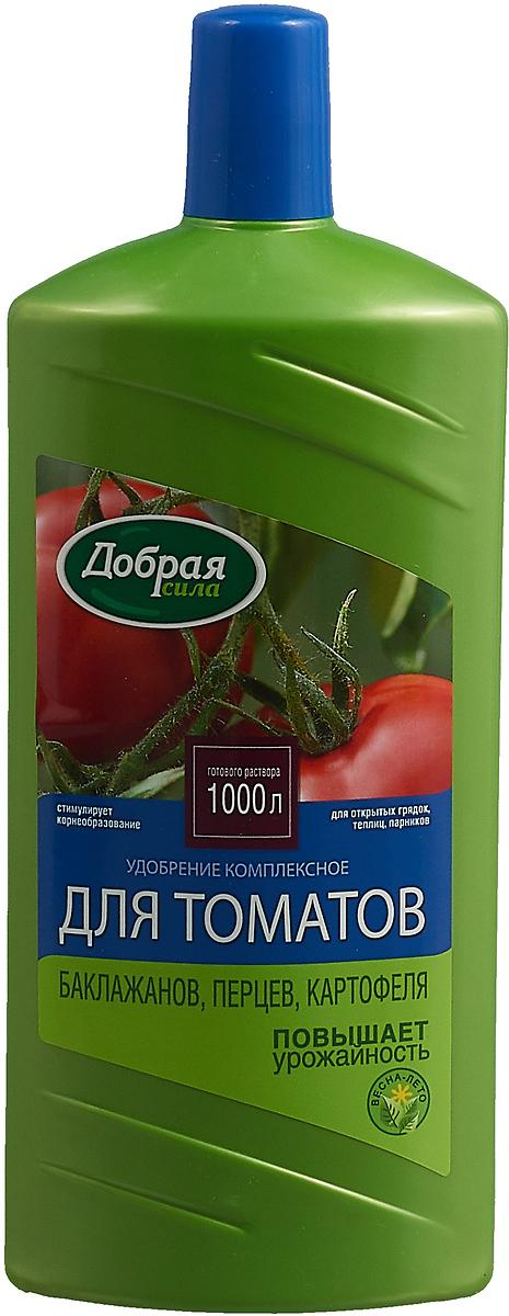 Удобрение комплексное Добрая Сила, для томатов, баклажанов, перцев, 1 л удобрение florizel гелеобразное органическое биогумус для томатов и перцев 350мл