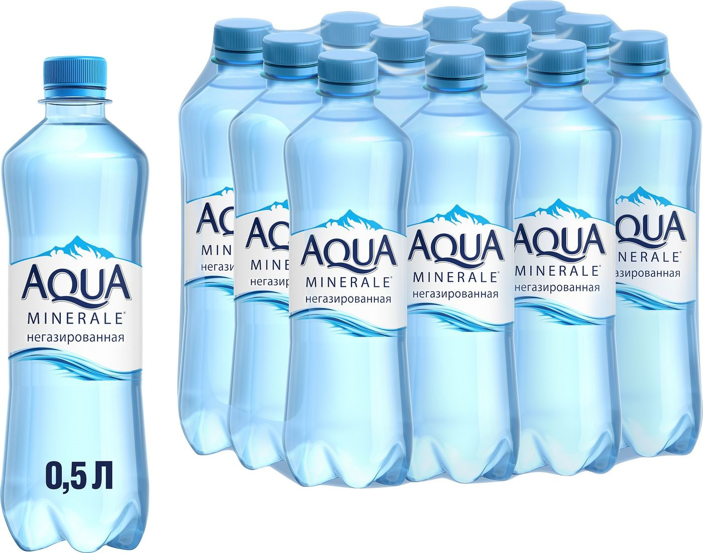 Вода Aqua Minerale, негазированная, питьевая, 12 шт по 500 мл
